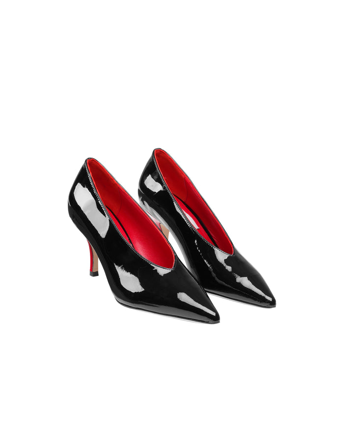 Patent Skin Alaine, Black/Red