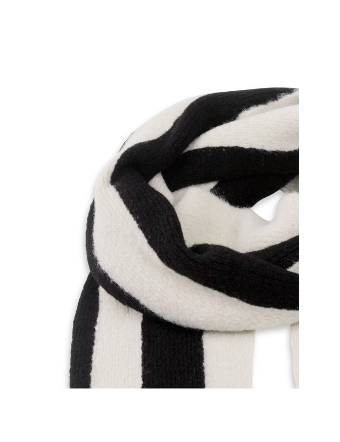 Soft Brushed Knit Annisette, Black/Off White