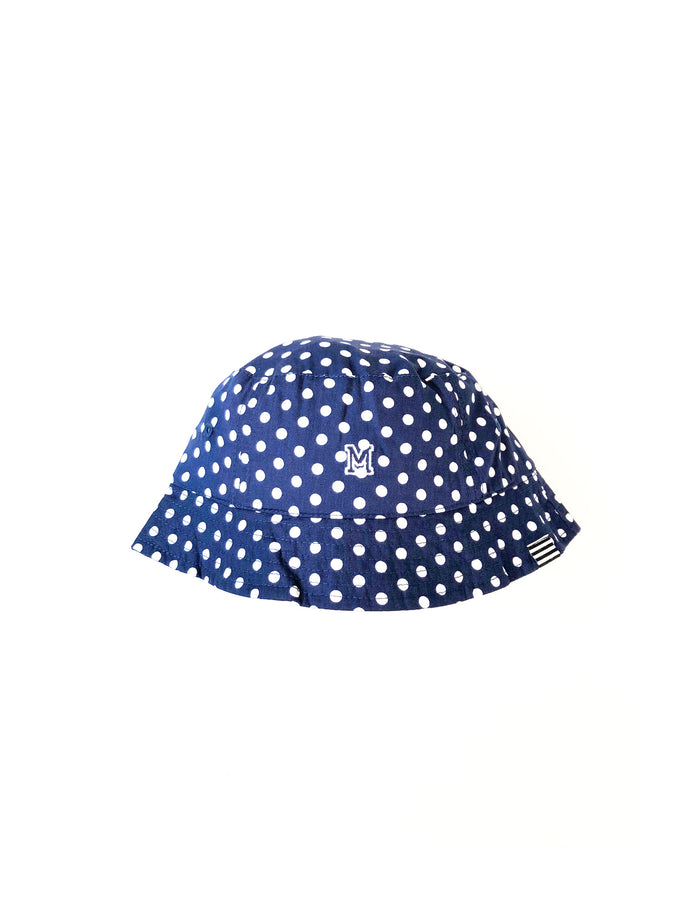 Bucket Ash, Navy/White Dot