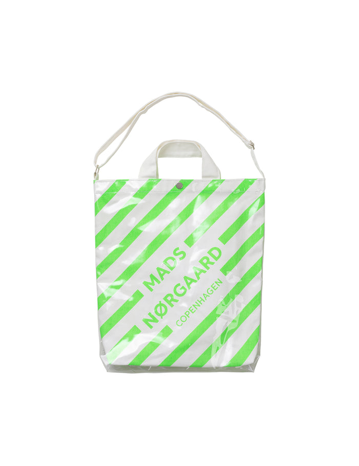 Töte Bag M, White/Neon Green