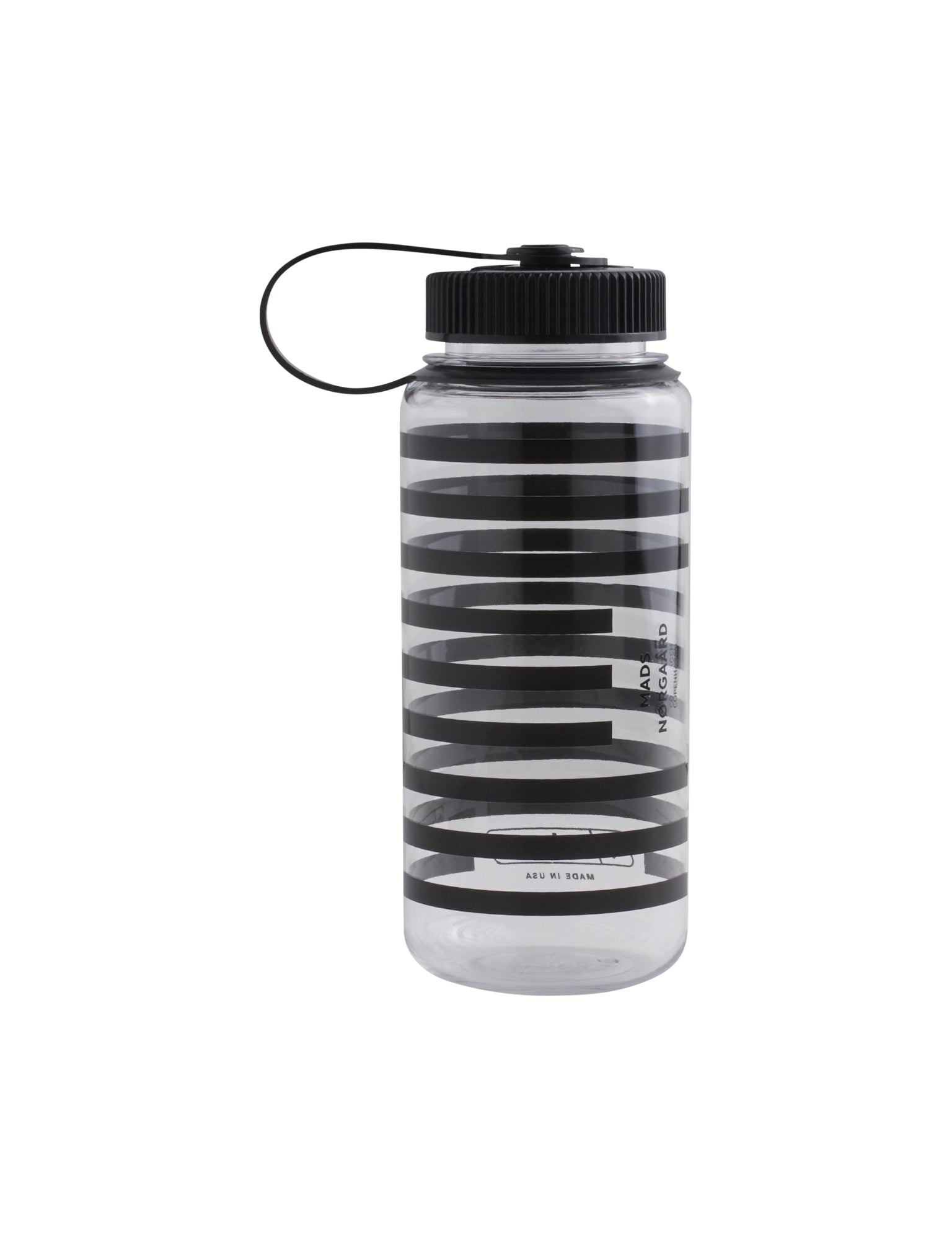Nalgene Water Bottle, Black/White