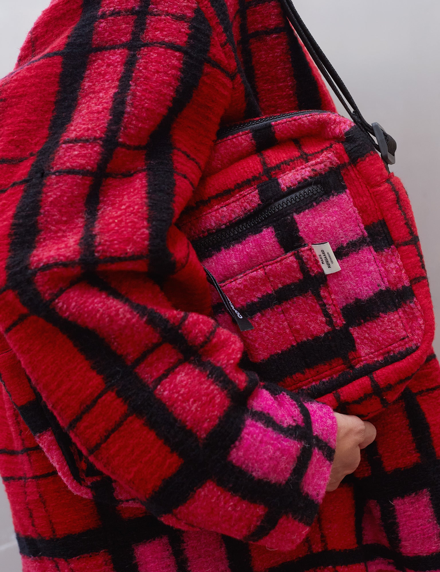 Bel Couture Cappa Wool, Pink check