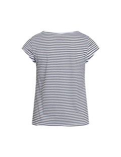 Organic Favorite Stripe Teasy, White/Black
