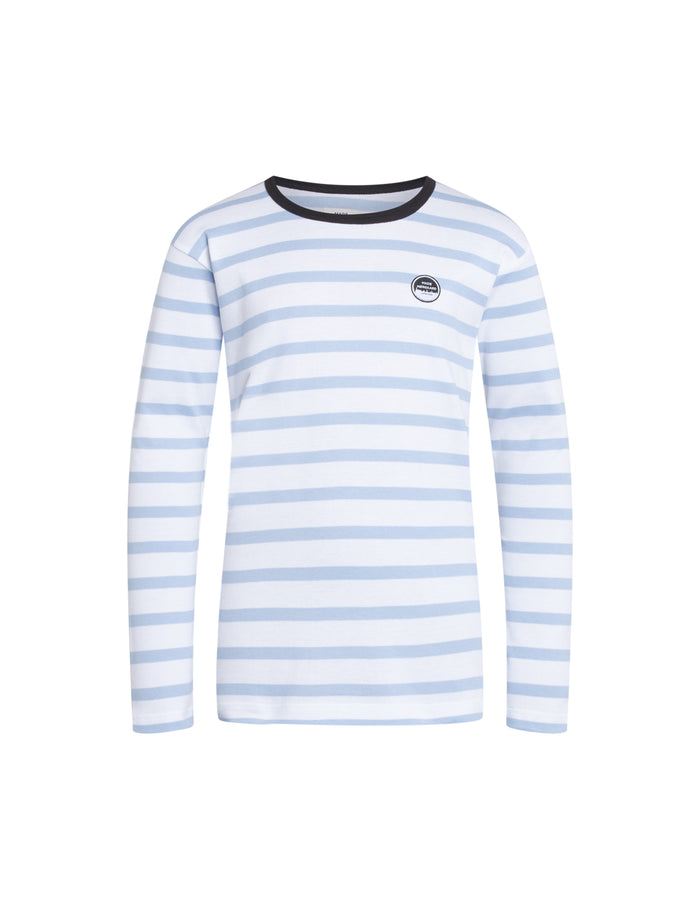Trio Rib Tobino Long, White/Baby Blue