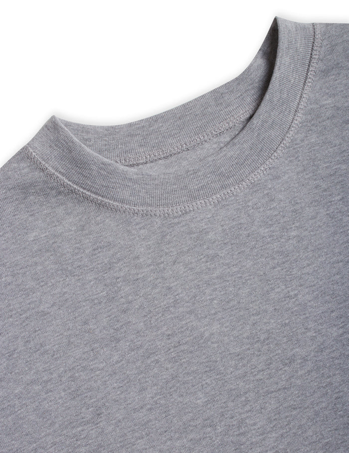 Cotton Rib Melange Son, Grey Melange