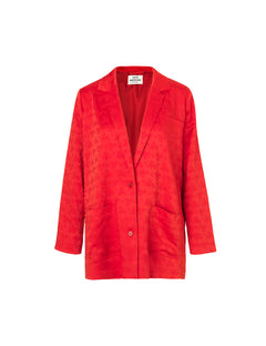 Tonal Jaquard Banny, Red/Red