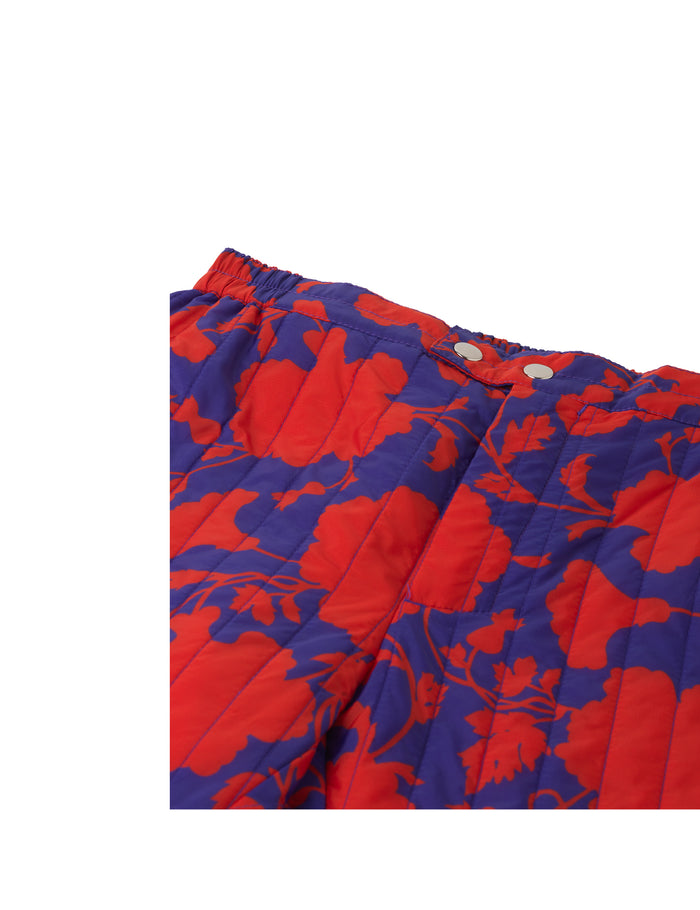 Liberty quilt Pansas, Red/Blue