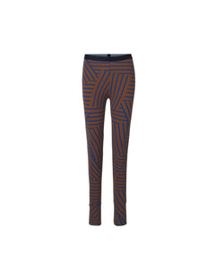 Stretch stripe Lizenna, Mid Brown/Blue