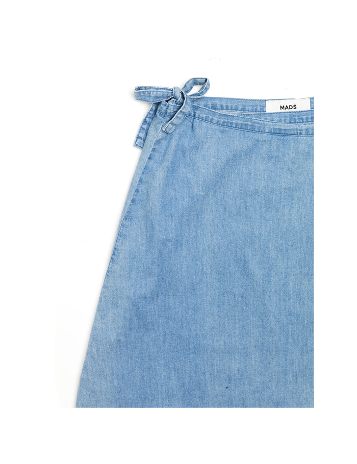 Simple Denim Stelly Wrap, Light Blue Wash 18-2