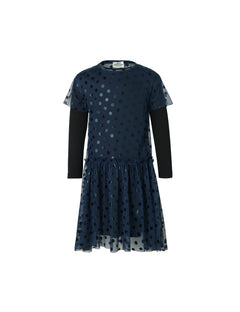 Tulle Dot Drastina Raw, Navy