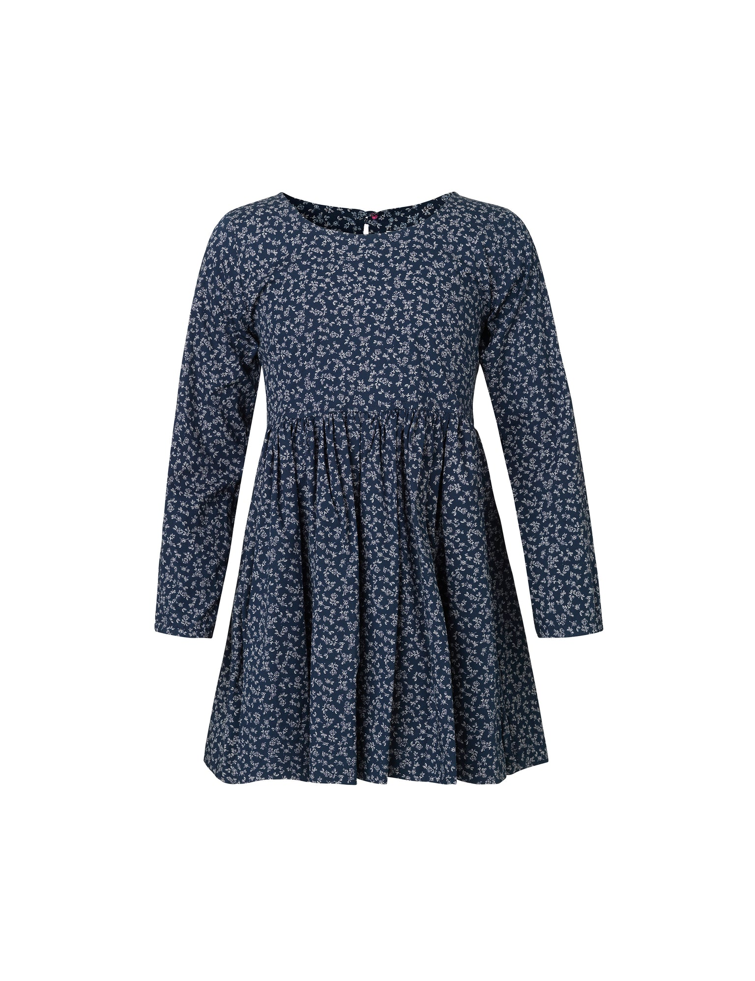 Vikdal Daisy Sleeve, Navy Flower