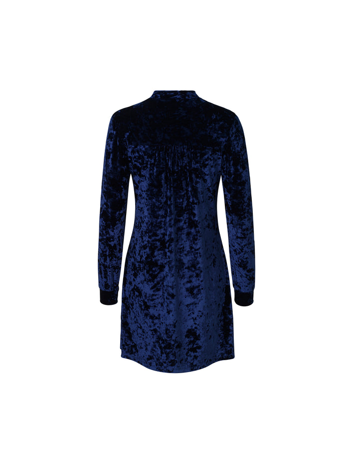 Crushed Velvet lux Dizzle, Navy