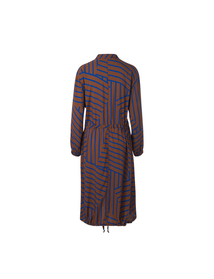 Viscose Stripe Sacca cuff, Mid Brown/Blue