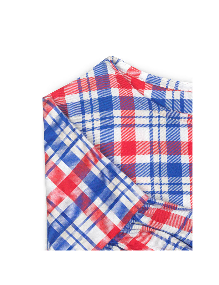 Viscose Check Drefina, Red/Blue