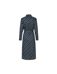 Soft Satina Stripe Distrella, Navy Multi