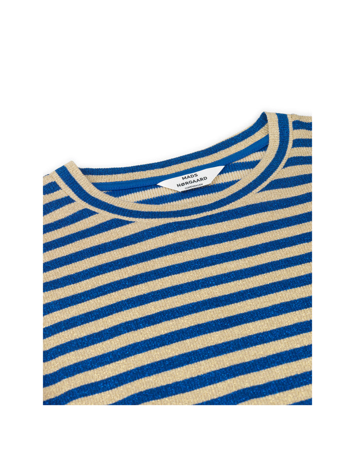 2x2 Glitter Stripe Duba, Lurex Blue/Gold