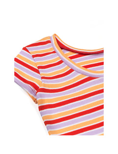 2X2 Softy Stripe Drapina, Multi Red