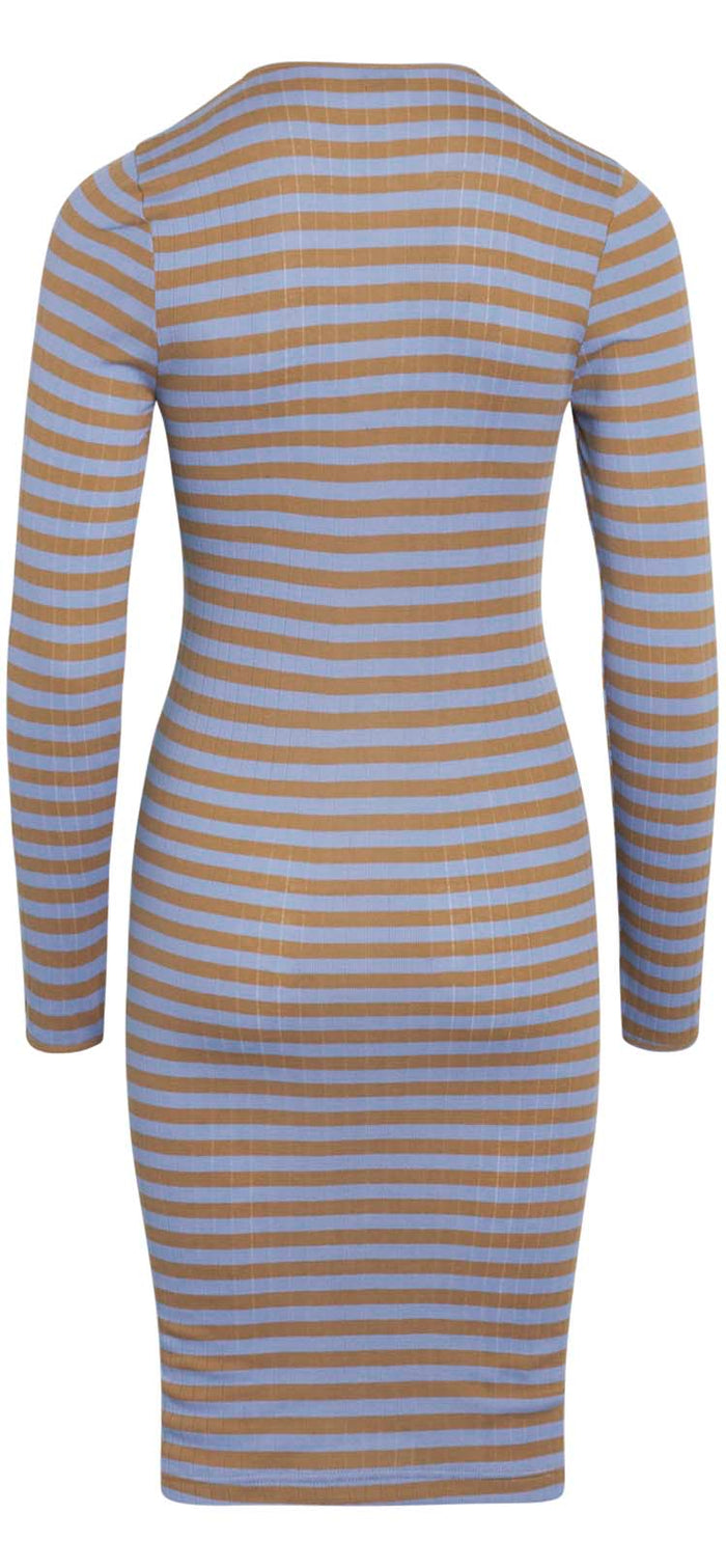 NPS John Dress Long Sleeve Broadway, Camel/Powder Blue