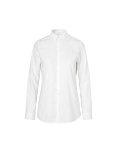 Fine oxford Selma button, White