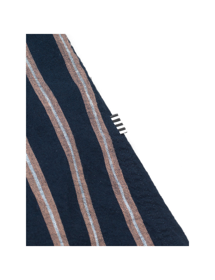 Stripe Linen Sawsett, Sky Captain Stripe