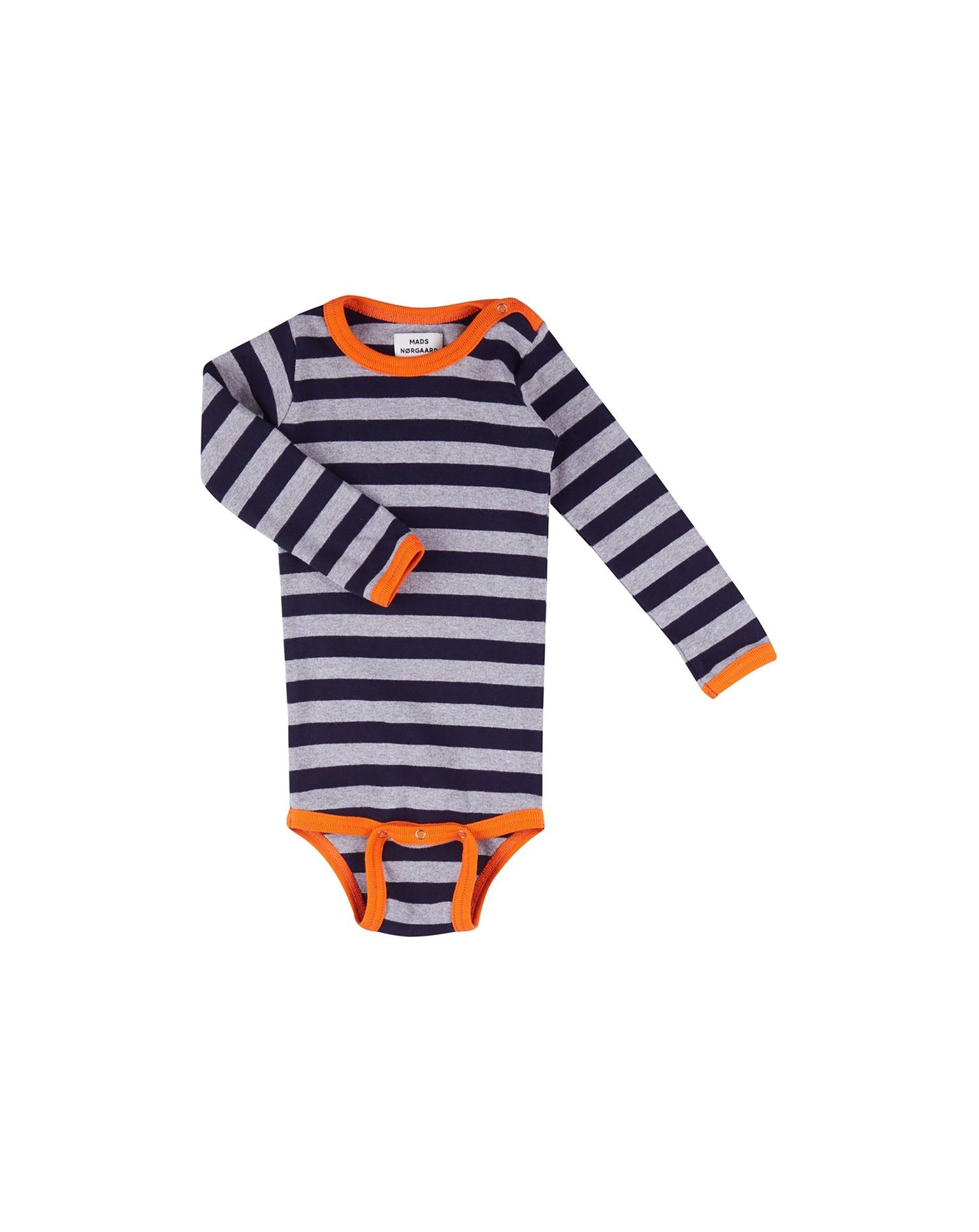 Midi rib body, Navy / grey Mel / Orange