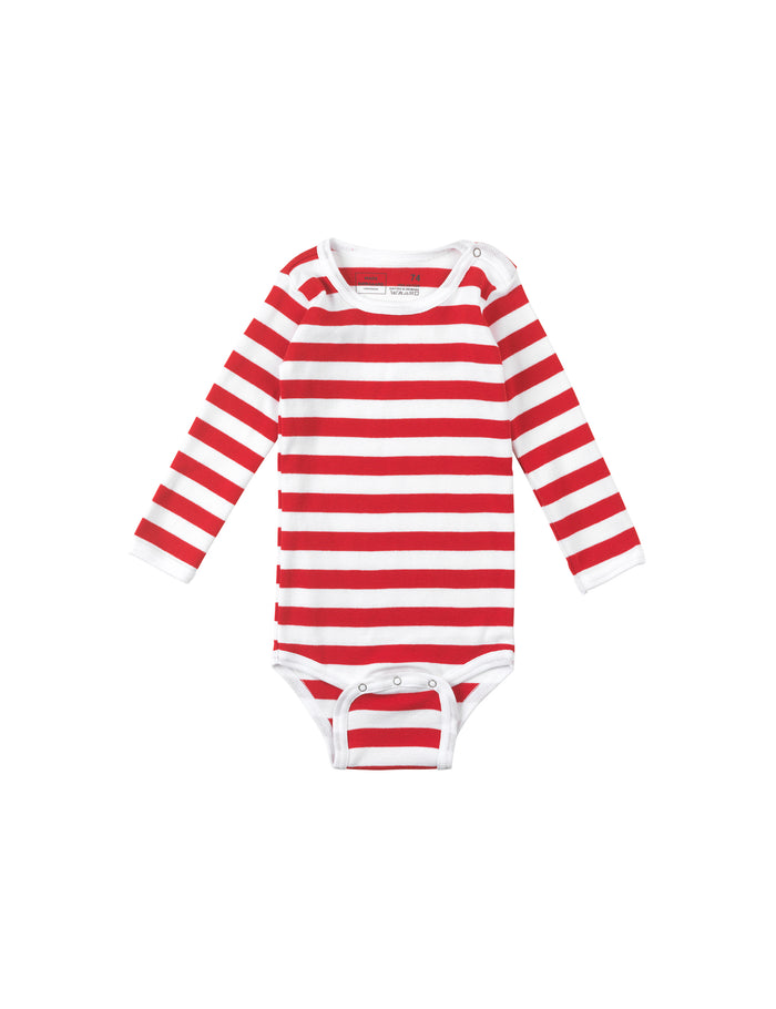 Midi Rib Body, Red/White