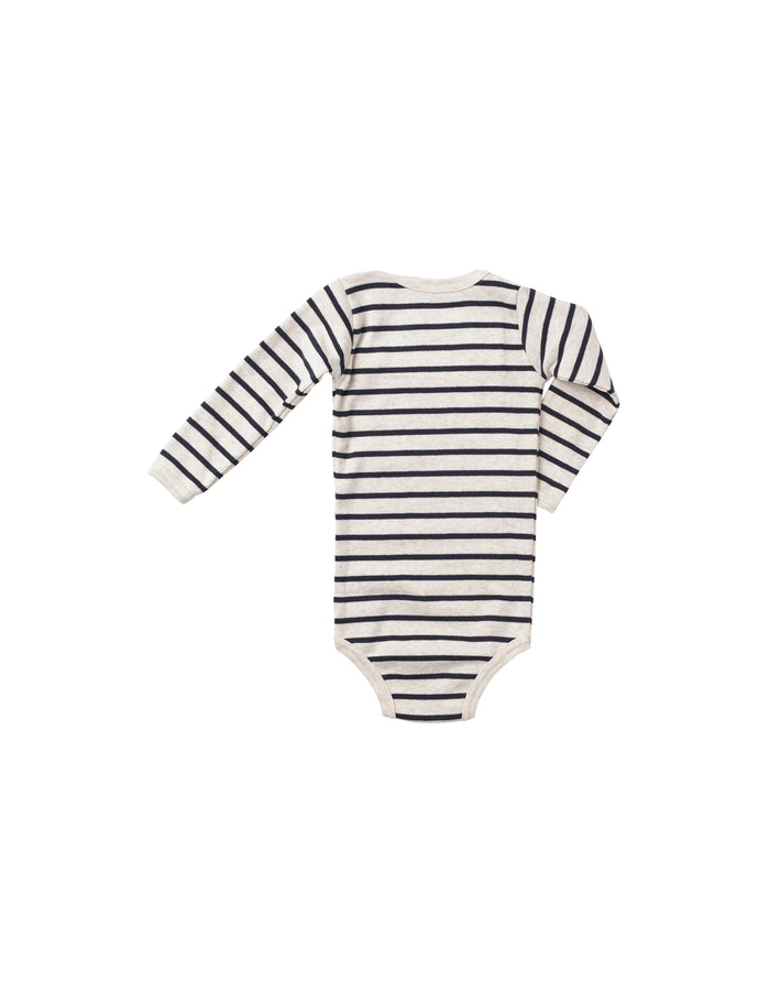 Trio Rib Body, Nature mel/Blue