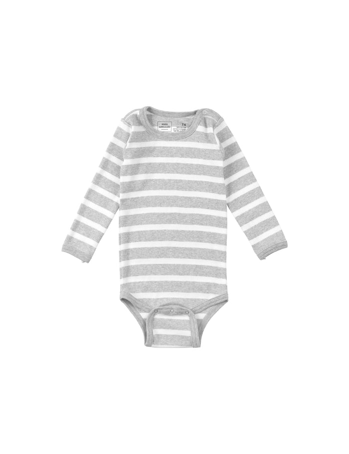 Trio Rib Body, Perla Grey/White