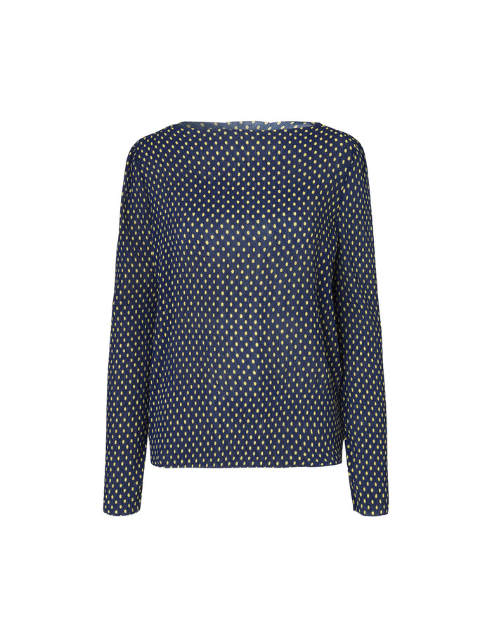 Smock dot Blizella, Navy/Yellow