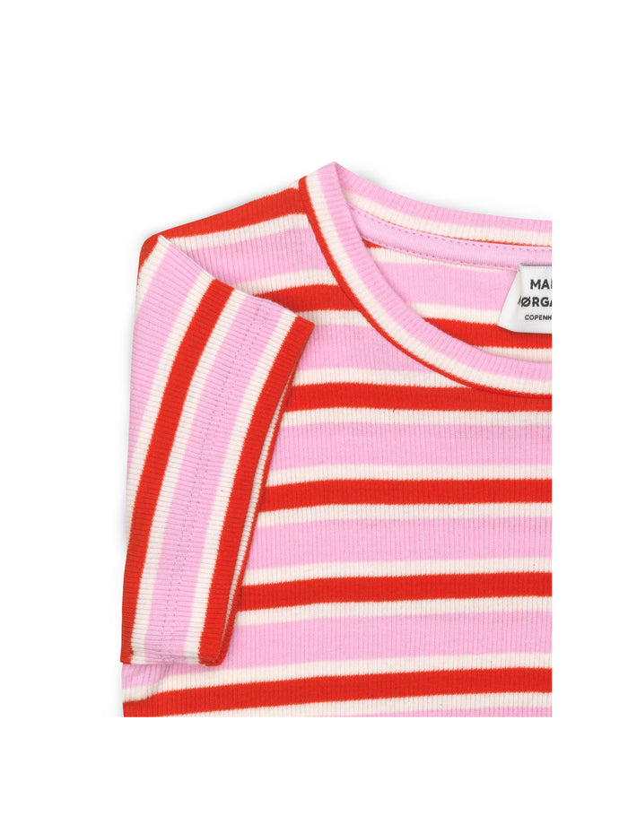 2X2 Soft Stripe Tuvina, Multi Pink