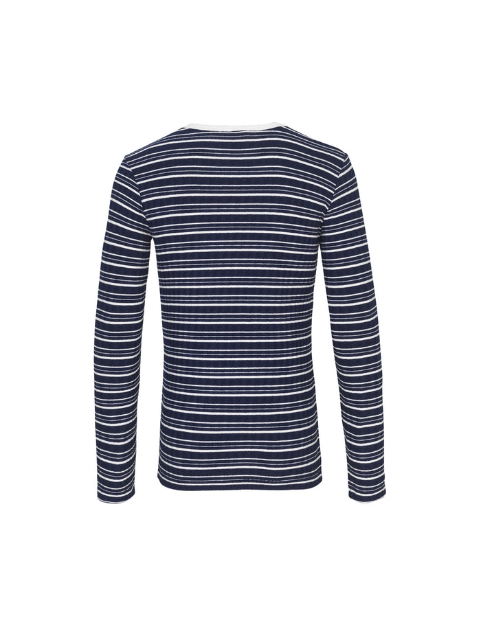 5x5 Cool Stripe Talino, Navy/Ecru