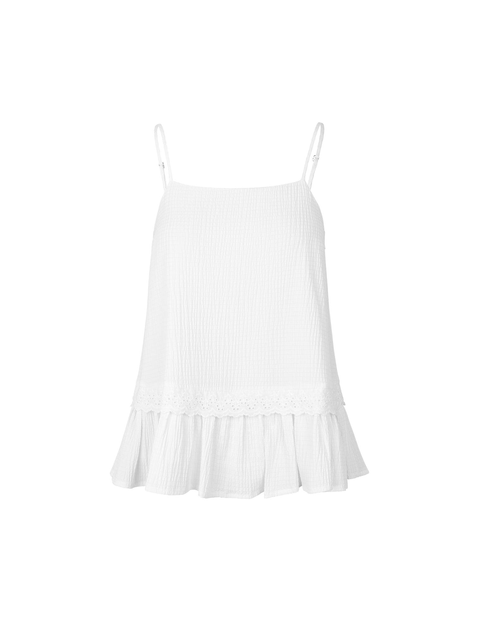 Seersucker Viscose Bista, White