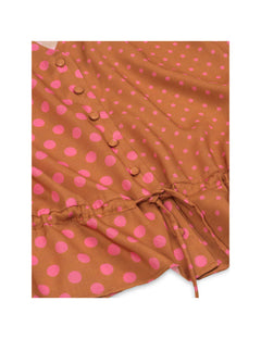 Eco Dot Viscose Brasina, Tan/Pink