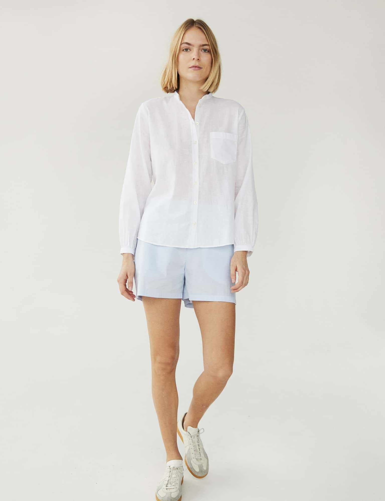 Linen Lux Swaggy, White