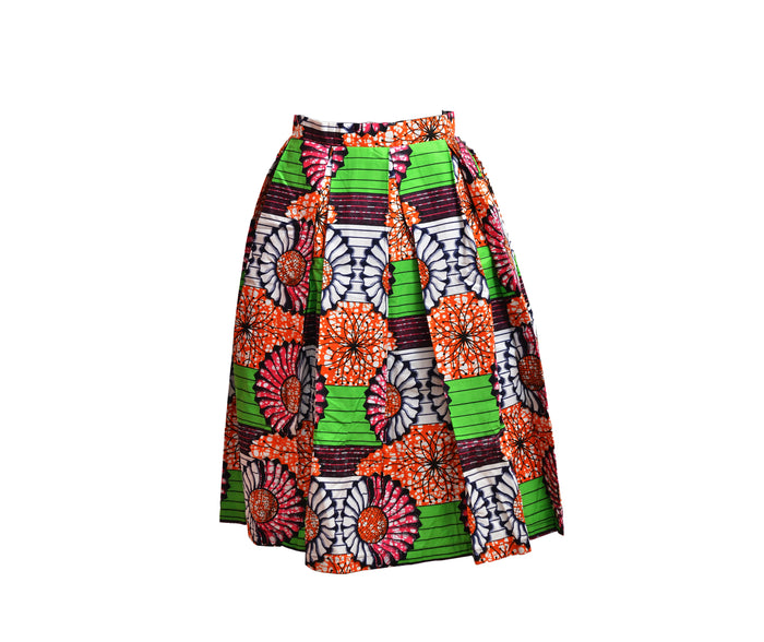 Toyosi Ankara Pleated Skirt...