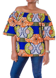 Off Shoulder Top. - Afrocentric Fashion Store-Ebbyz