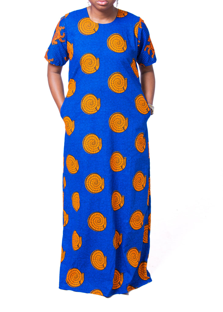 Adaure Flare Maxi Dress - Afrocentric Fashion Store-Ebbyz