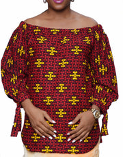 Off Shoulder Top - Afrocentric Fashion Store-Ebbyz