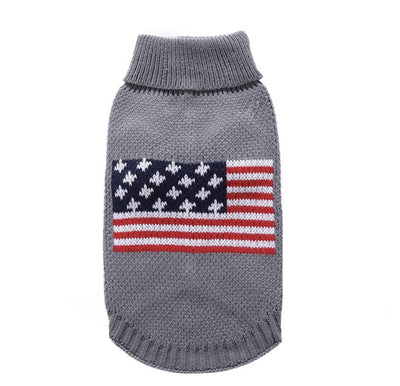 USA DOG KNIT SWEATER