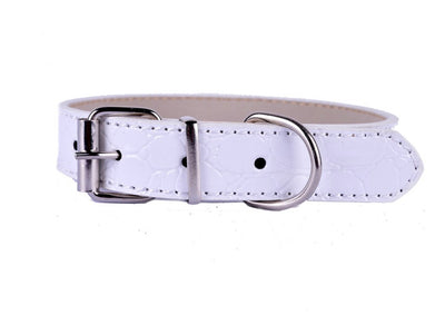 Faux Croc Leather Puppy Collar