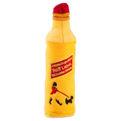 JOHNNIE DOGWALKER BOTTLE CRACKLER TOY WITH SQUEAKER