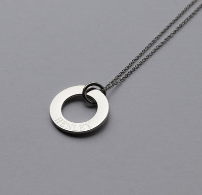 Personalised Washer Tag Necklace