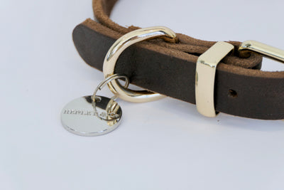 Genuine Leather Brown Collar