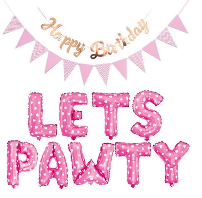 Let's PAWTY Balloon & Banner Set