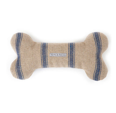MUTTS & HOUNDS SQUEAKY DOG BONE TOY