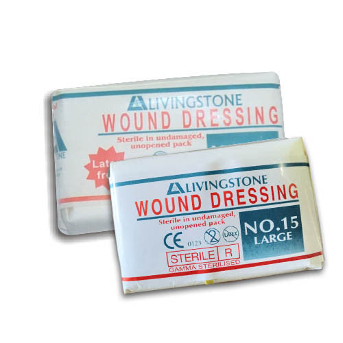 Dressing Sterile Wound No.15 Large Latex Free (Pack of Six)