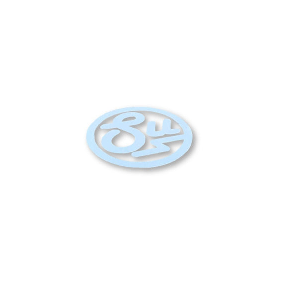 Swimbait Underground Circle SU Transfer Sticker - White