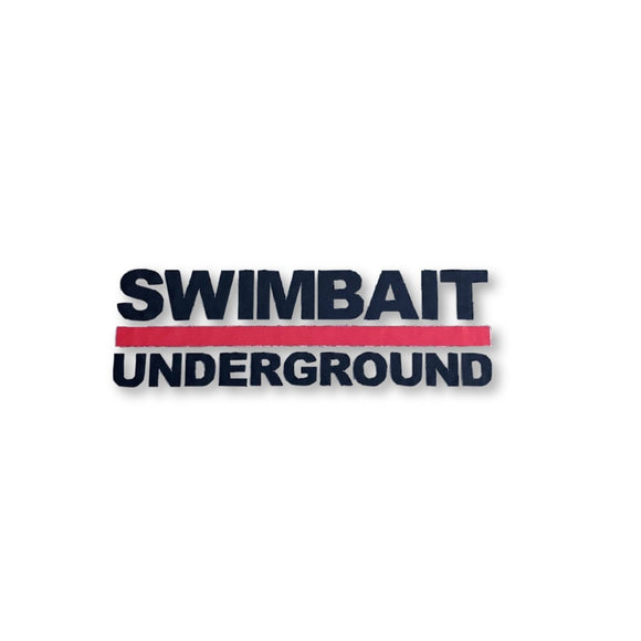 Swimbait Underground Lock Up Logo Transfer Sticker - Black
