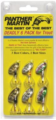 Panther Martin Deadly 6 Pack for trout