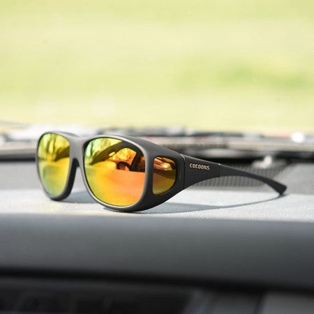 Cocoons Pilot Black Rose Mirror Sunglasses